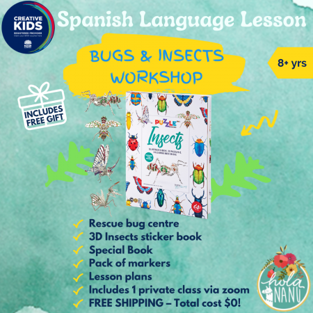 creative kids voucher, creative kid voucher, service nsw, service nsw provider, bugs, insects, learning, stickers, book, craft, learning, educational kit, free bundle, where to use creative kids, hola nanu, toy shop, best kits, free, service nsw provider,